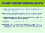measures to improve agriculture growth