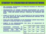 strategy to strengthen extension network