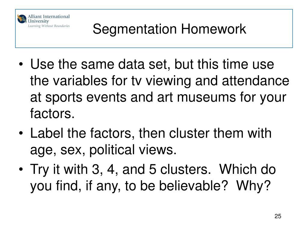 Segmentation Homework