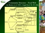community structure food web de ruiter et al 1993 j appl ecol 30 95 106