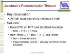 jacobson s retransmission timeout