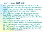 cd r and cd rw
