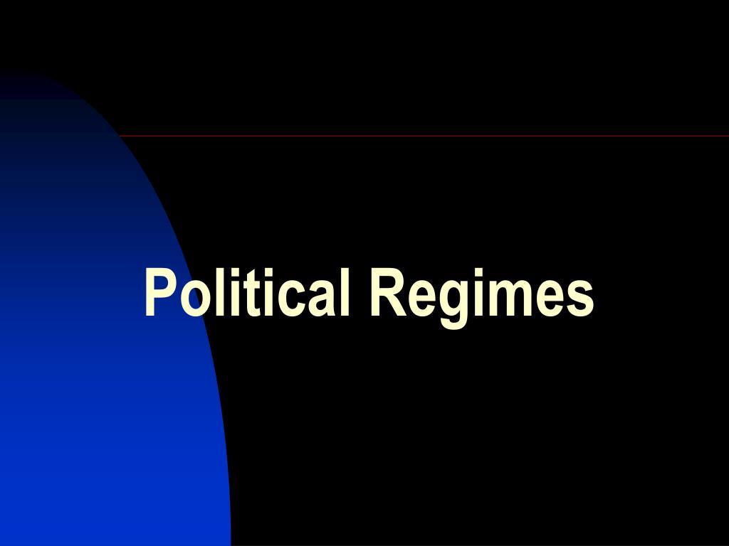 political regimes l.
