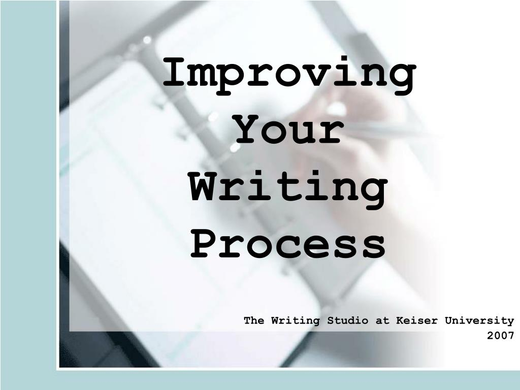 improving your writing process l.