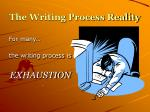 the writing process reality4