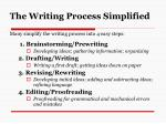 the writing process simplified
