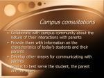 campus consultations