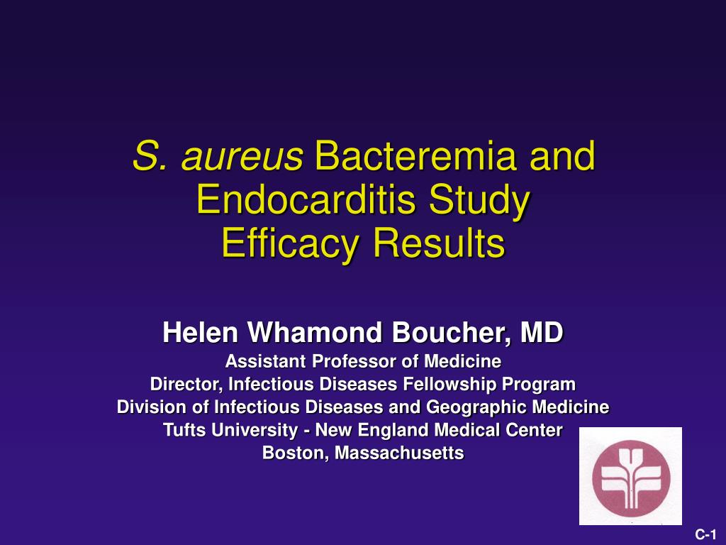 s aureus bacteremia and endocarditis study efficacy results