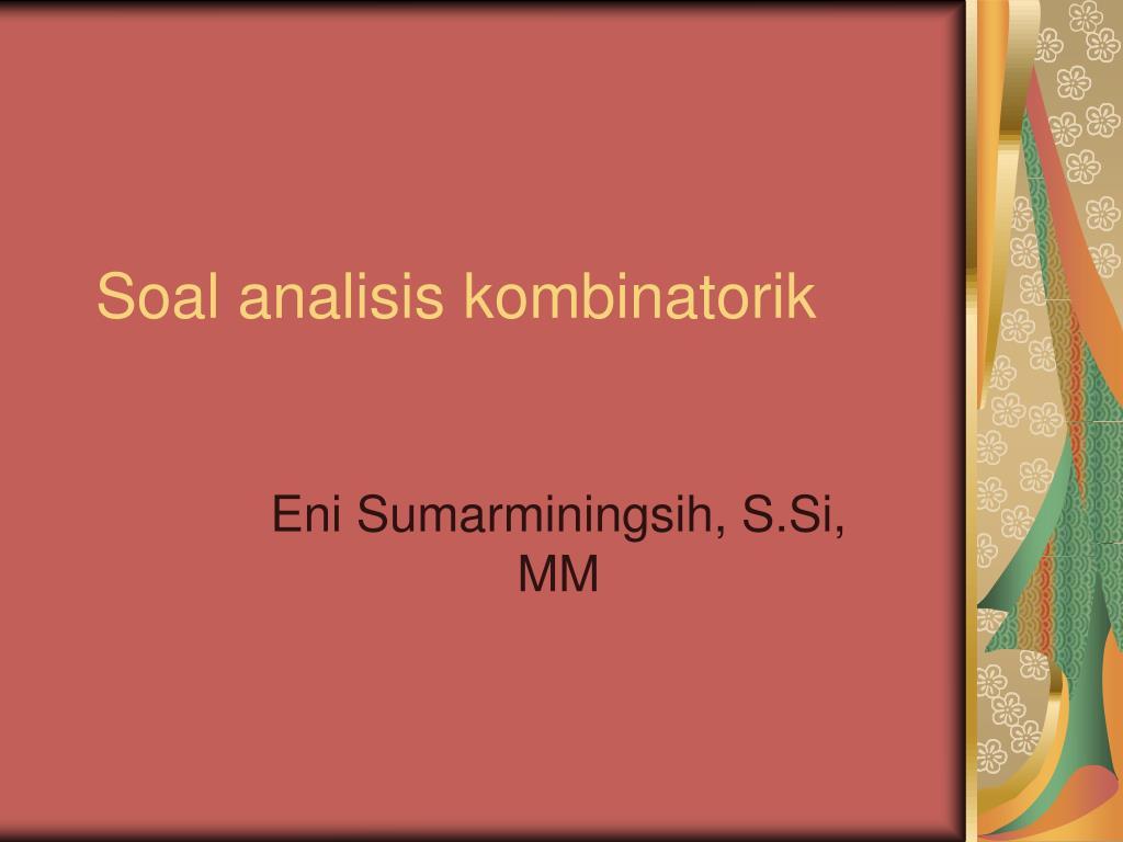 soal analisis kombinatorik l.