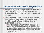 is the american media hegemonic