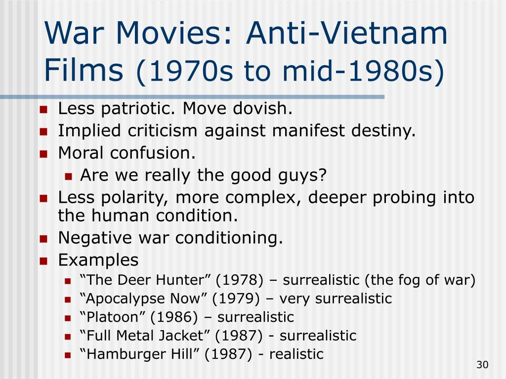War Movies: Anti-Vietnam Films