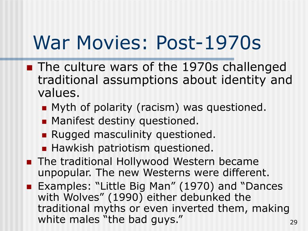War Movies: Post-1970s