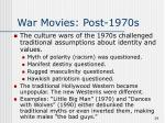 war movies post 1970s