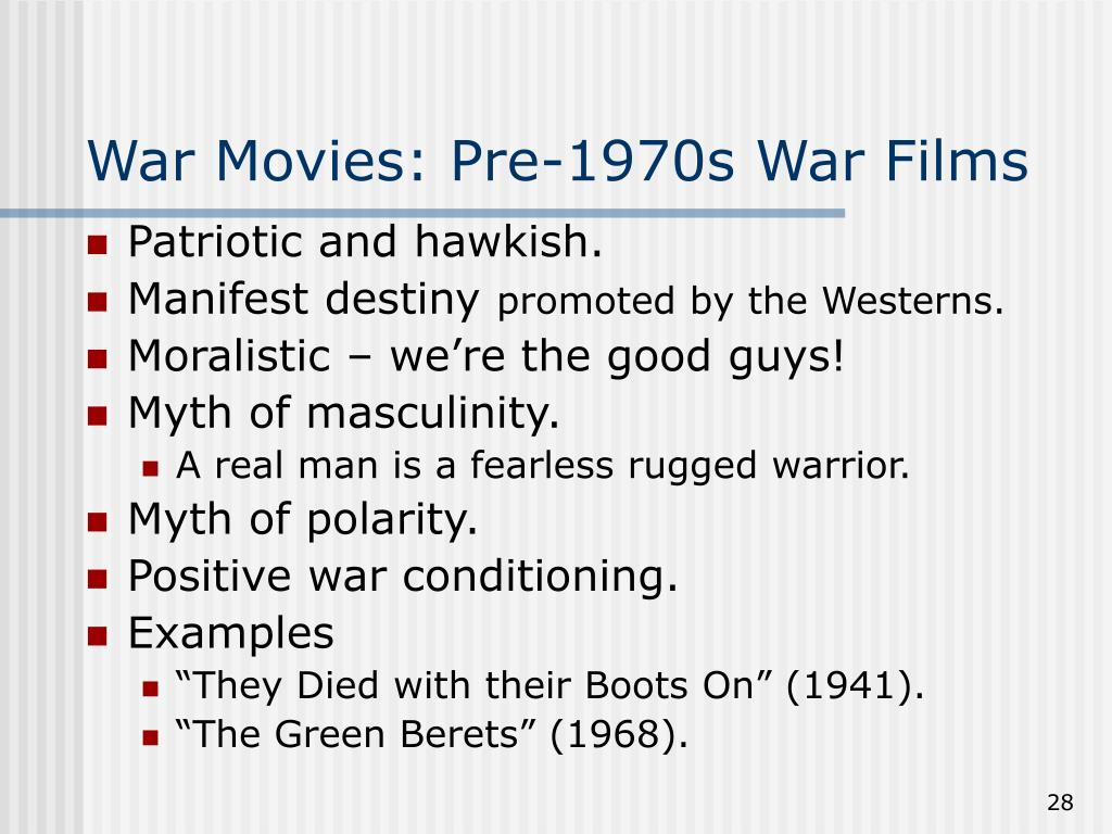 War Movies: Pre-1970s War Films