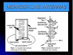 meander line antennas