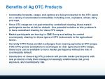 benefits of ag otc products