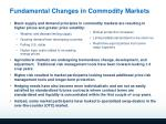 fundamental changes in commodity markets