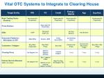 vital otc systems to integrate to clearing house