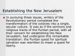 establishing the new jerusalem