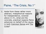 paine the crisis no 1