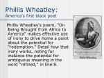 phillis wheatley america s first black poet
