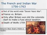 the french and indian war 1756 1763