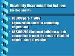 disability discrimination act 1995 the documents