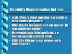 disability discrimination act 199513