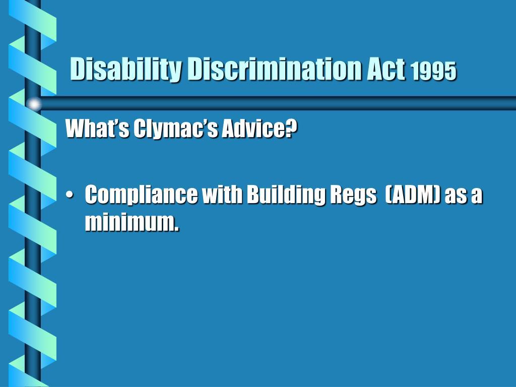 Disability Discrimination Act