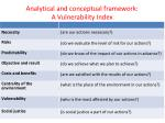 analytical and conceptual framework a vulnerability index