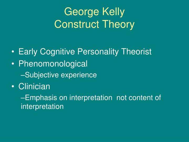 george kelly construct theory n.