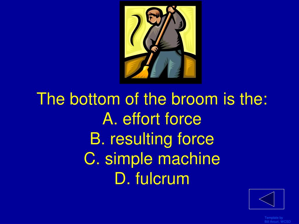 The bottom of the broom is the: