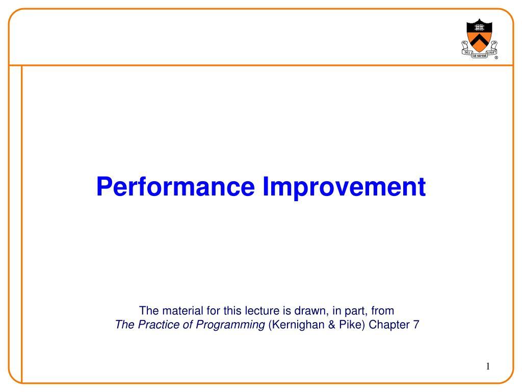 performance improvement l.