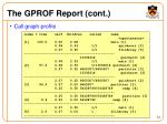 the gprof report cont