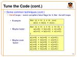 tune the code cont24