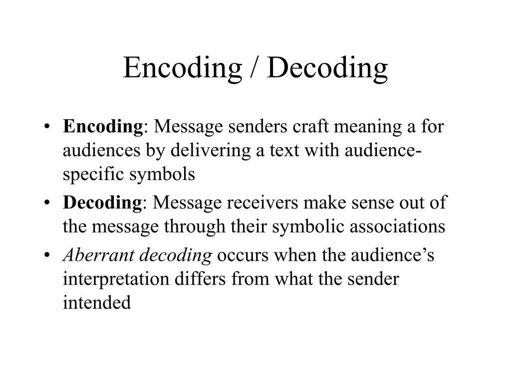 Encoding / Decoding