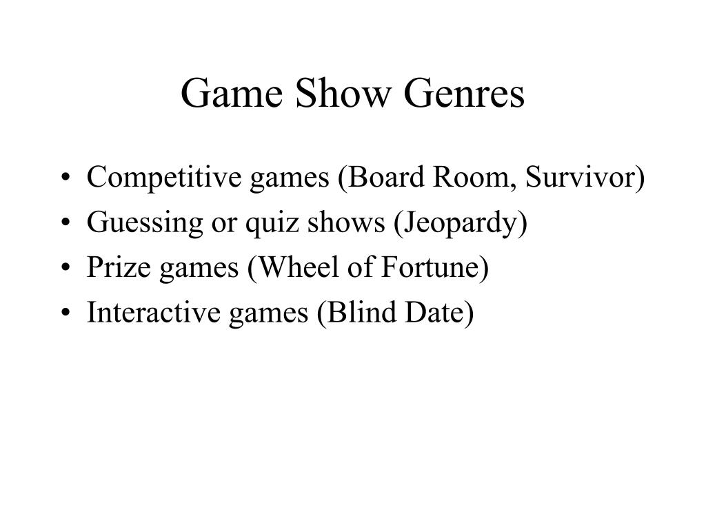 Game Show Genres