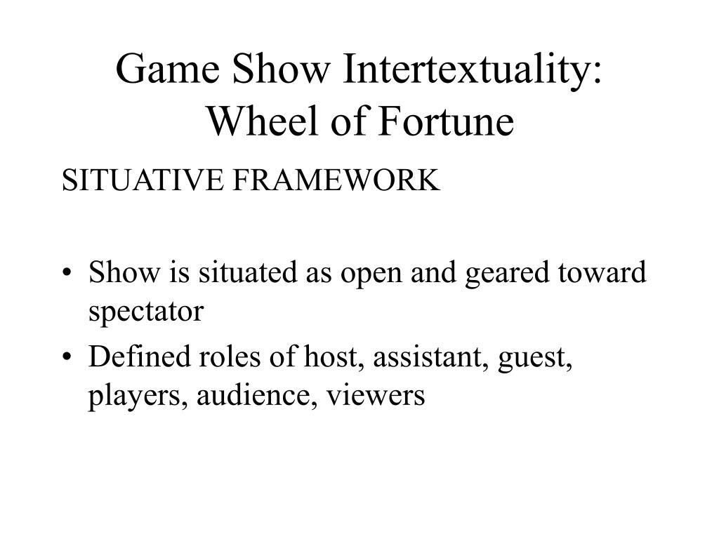 Game Show Intertextuality: