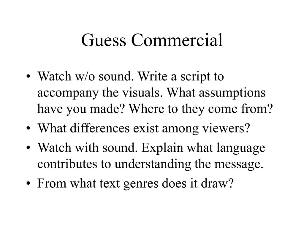 Guess Commercial