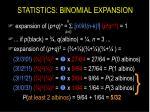 statistics binomial expansion11