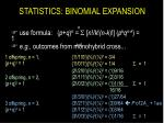 statistics binomial expansion6