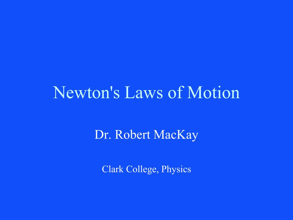 newton s laws of motion l.