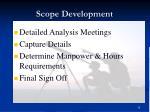 scope development