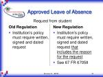 approved leave of absence21