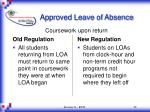 approved leave of absence22