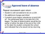 approved leave of absence23