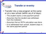 transfer or re entry38