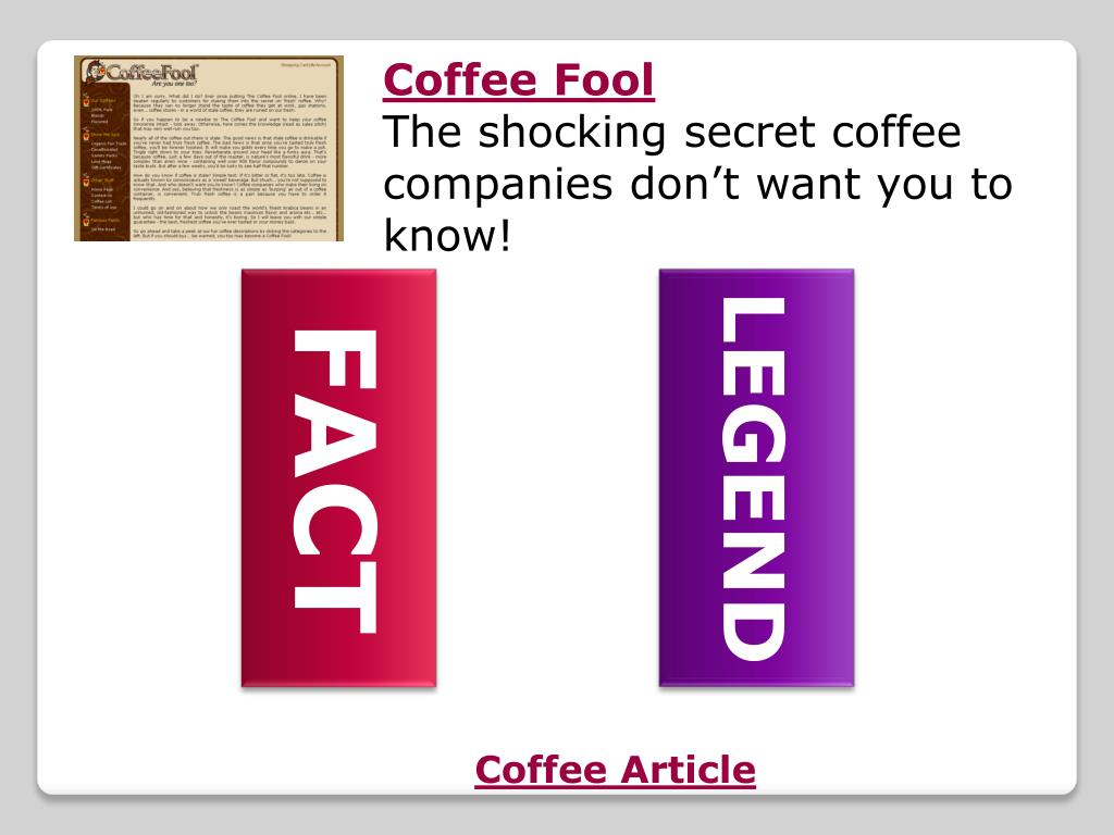 Coffee Article
