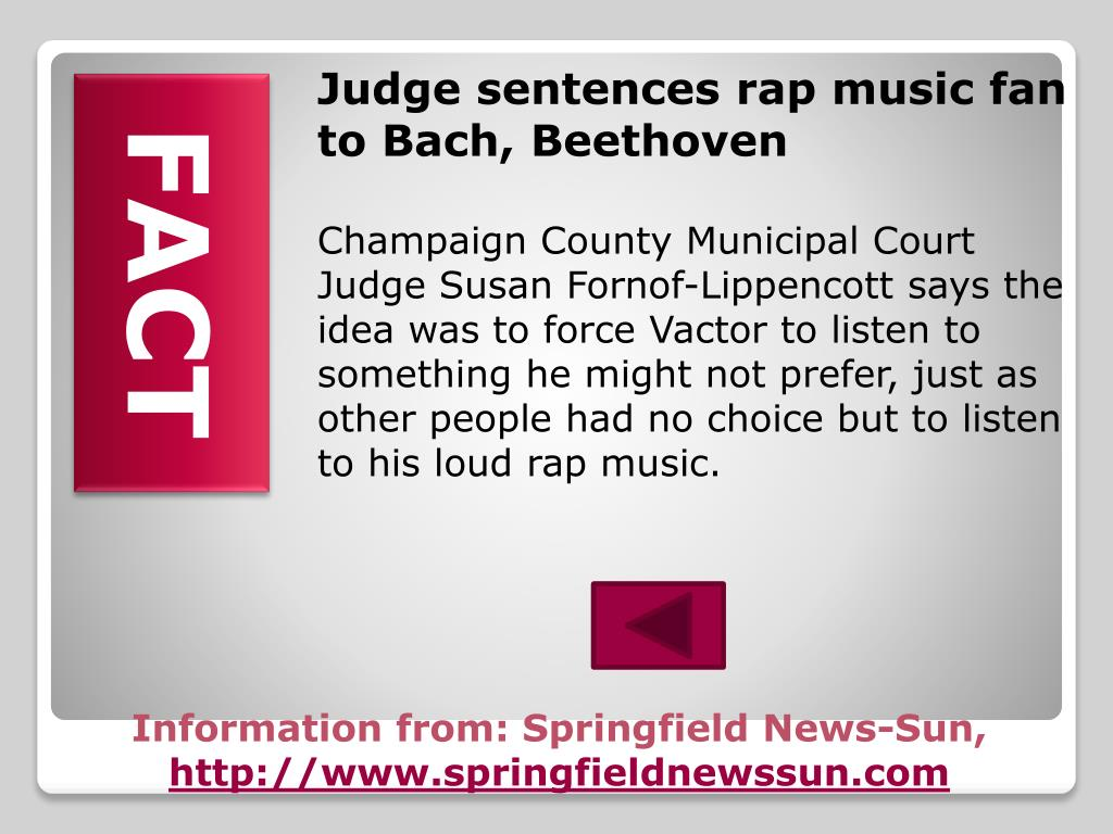 Judge sentences rap music fan to Bach, Beethoven