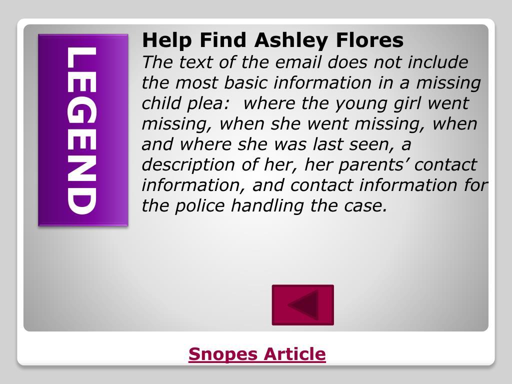 Help Find Ashley Flores
